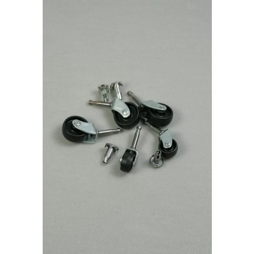 Black Nylon Castor Wheels (Large)