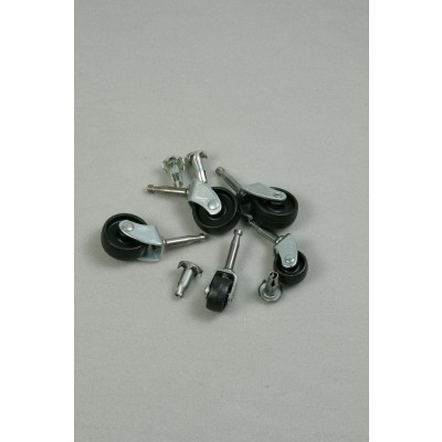 Black Nylon Castor Wheels (Small)